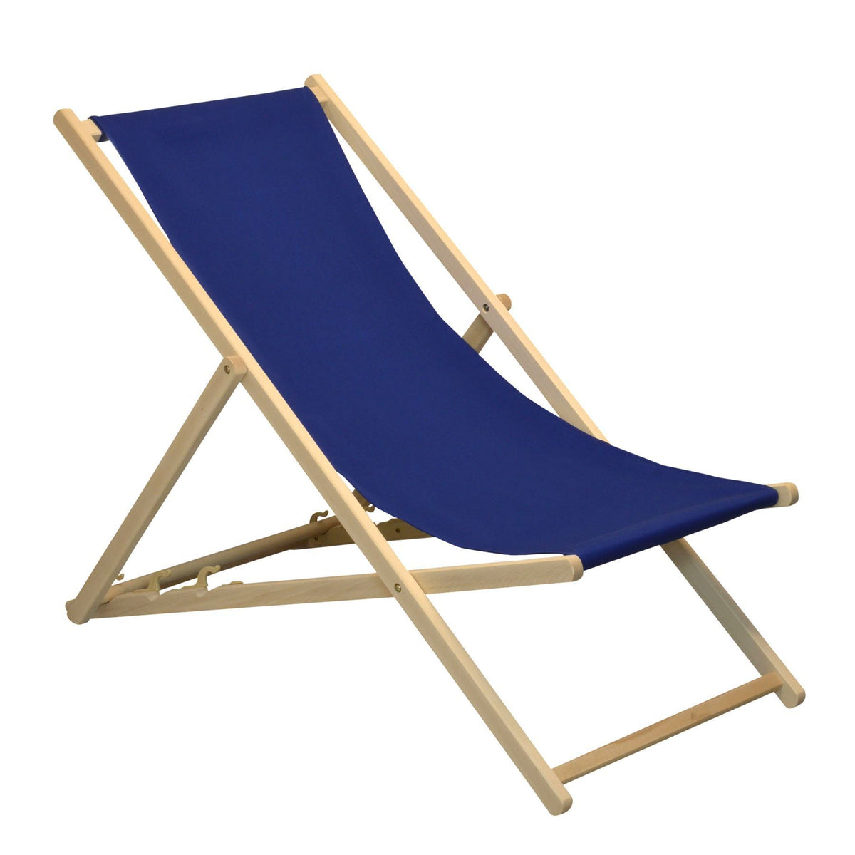 Harbour Housewares Beach Deck Chair - Navy Blue