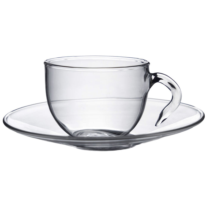Argon Tableware Minimus Espresso Glass Cup and Saucer