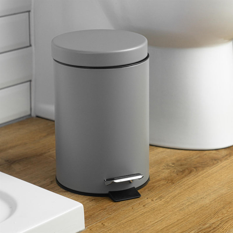 Small Grey Bathroom Bin