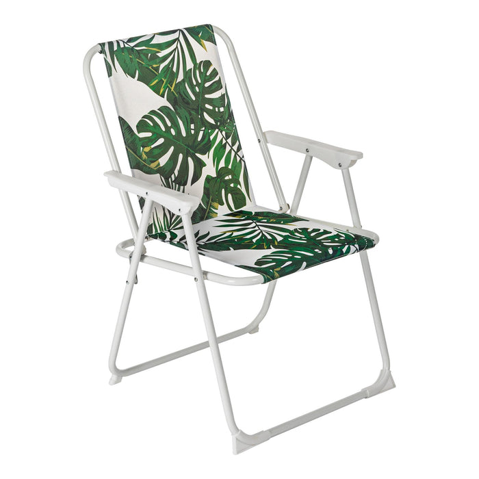 Harbour Housewares Folding Beach Arm Chair - Banana Leaf