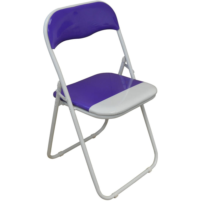 Harbour Housewares Purple / White Padded, Folding, Desk Chair