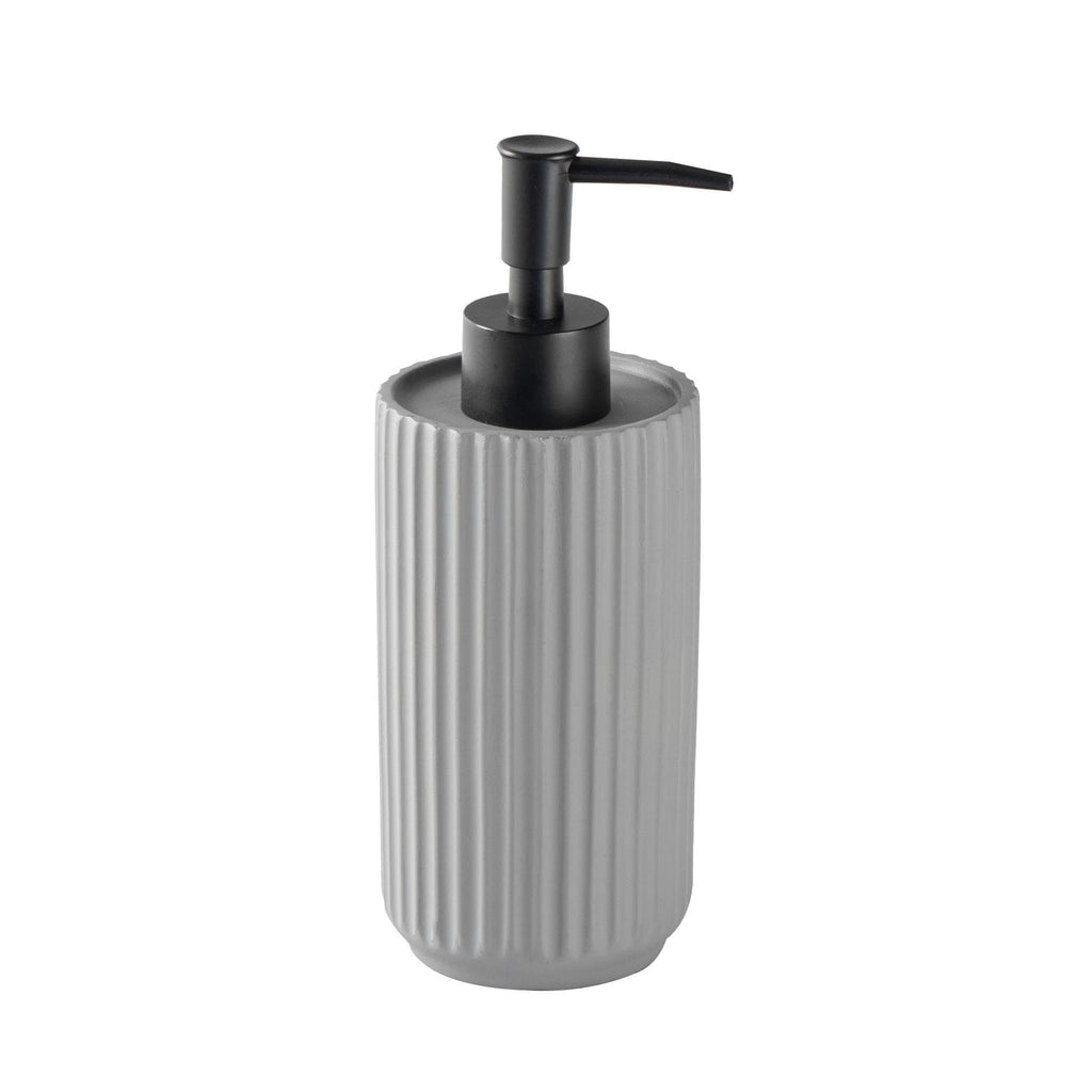 Harbour Housewares Liquid Soap Dispenser - Concrete - Grey