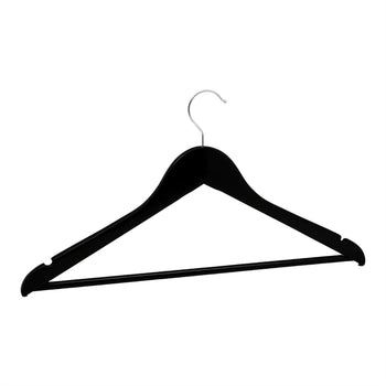 Harbour Housewares Black Wooden Clothes / Coat Hanger