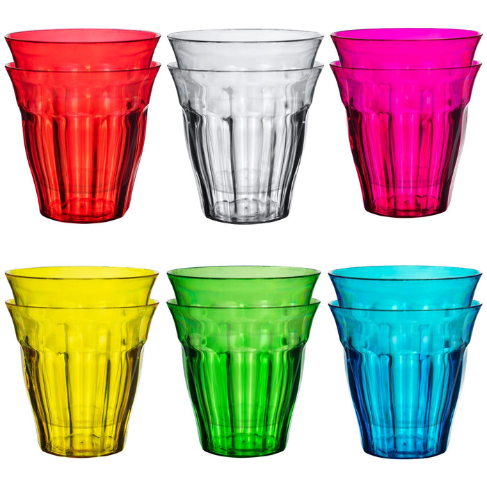Rink Drink Plastic Rainbow Drinking Tumblers - Pack of 12