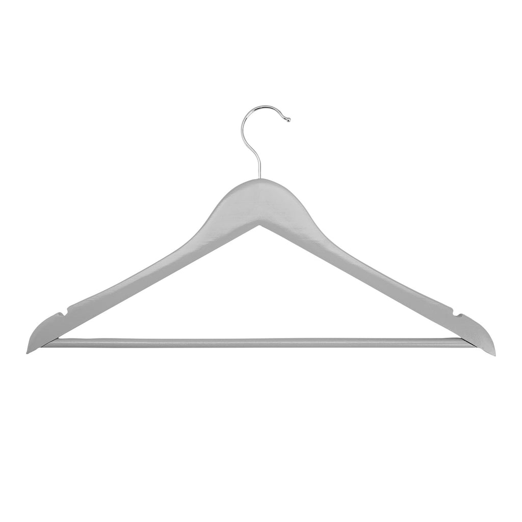Harbour Housewares Wooden Clothes Hanger - Grey