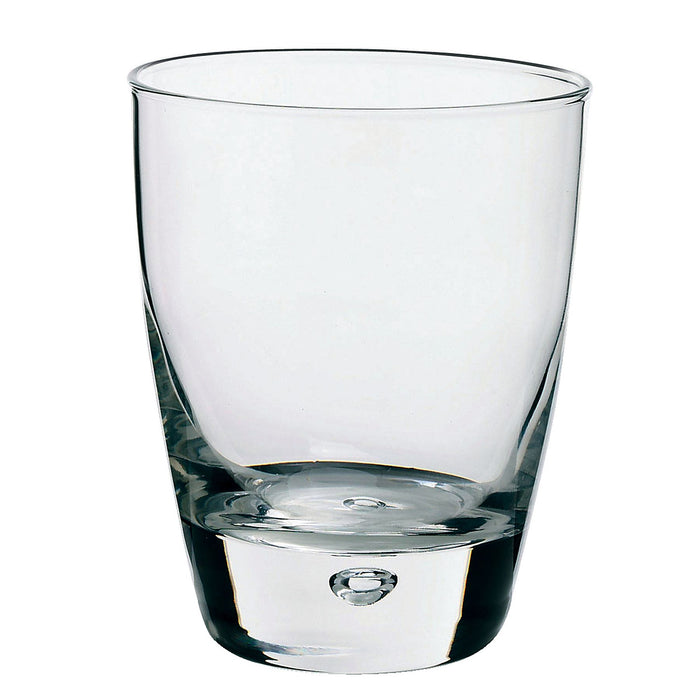 Bormioli Rocco 6 Luna Bubble Base Glass Whiskey Glasses - 260ml