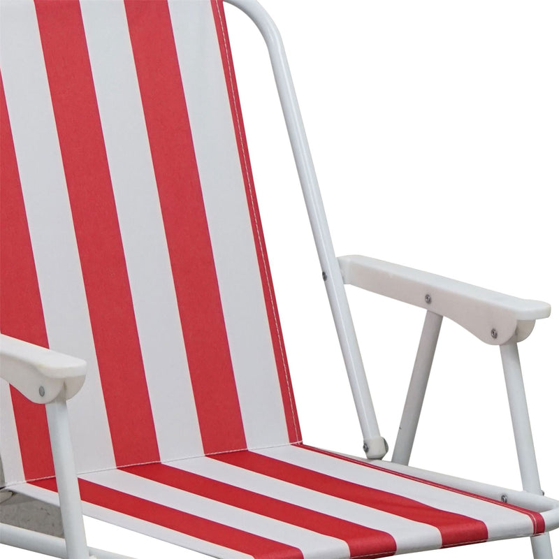 Harbour Housewares Folding Deck Chairs with Arms