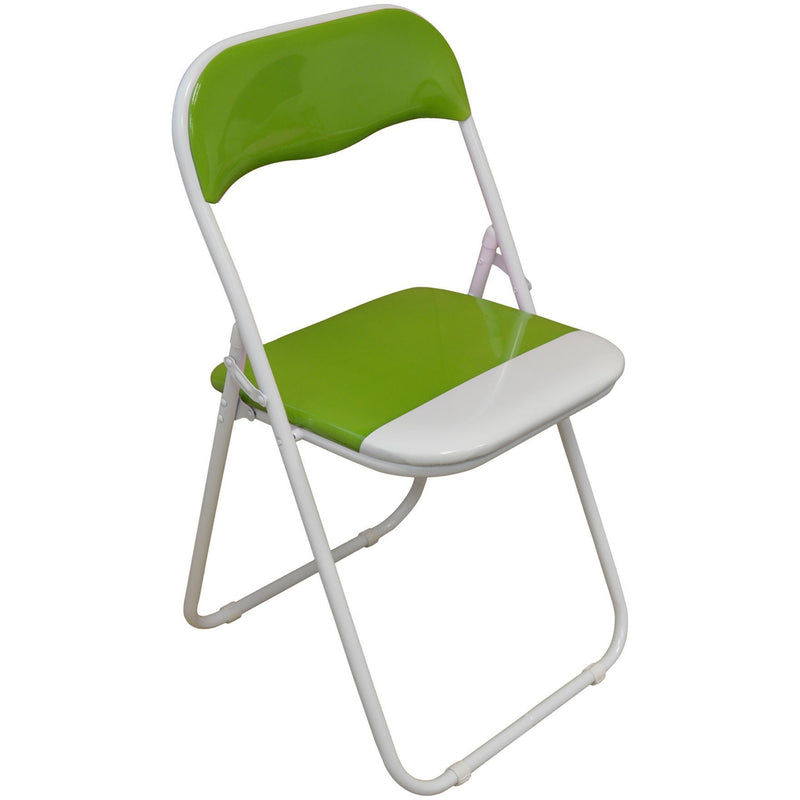 Harbour Housewares Green / White Padded, Folding, Desk Chair