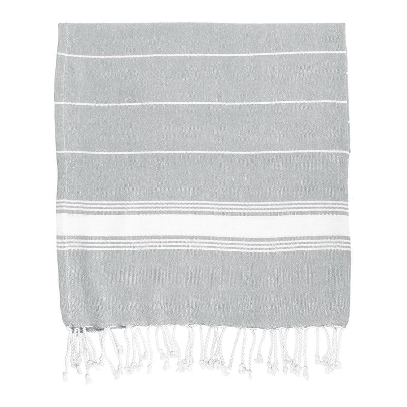 Nicola Spring Turkish Beach Towel - Grey