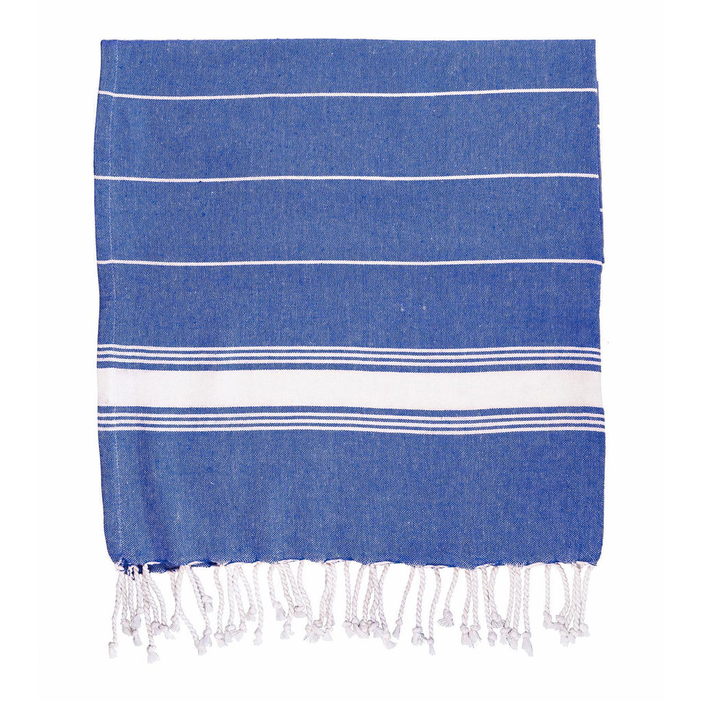 Nicola Spring Turkish Beach Towel - Navy