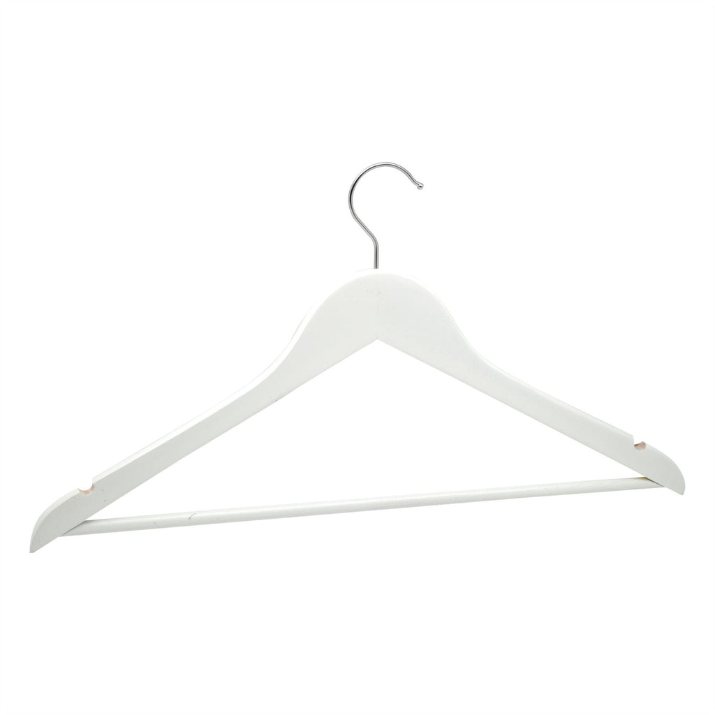 Harbour Housewares White Wooden Clothes / Coat Hanger