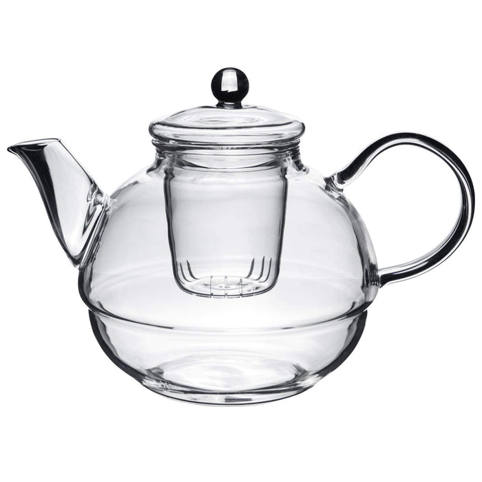 Argon Tableware Glass Tea-For-One Tea Pot, Cup and Strainer Set