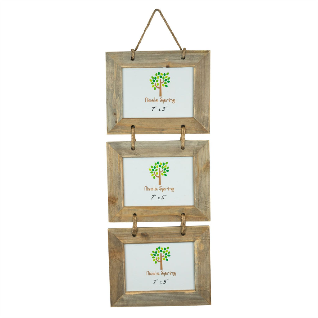 Nicola Spring Triple Photo Hanging Picture Frame - 7x5