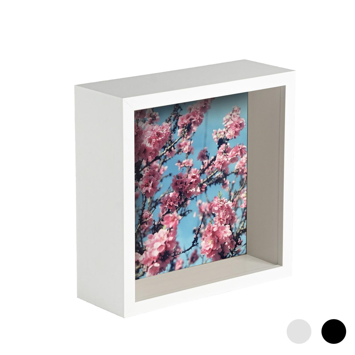 Nicola Spring Deep Box Photo Frame - 8 x 8 - White