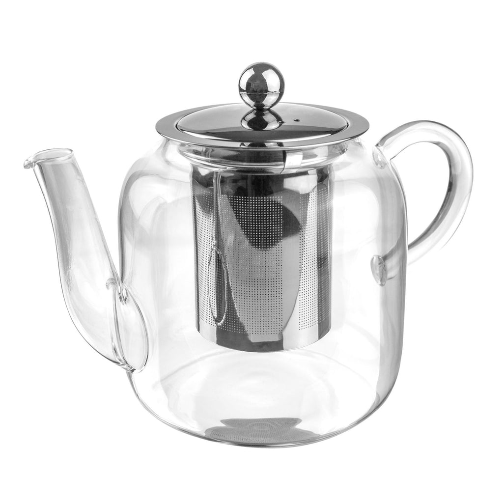 Argon Tableware Clear Glass Infuser Teapot - 800ml