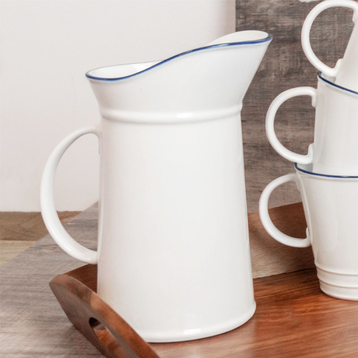 Nicola Spring Farmhouse Water Jug with Spout - 1 Litre