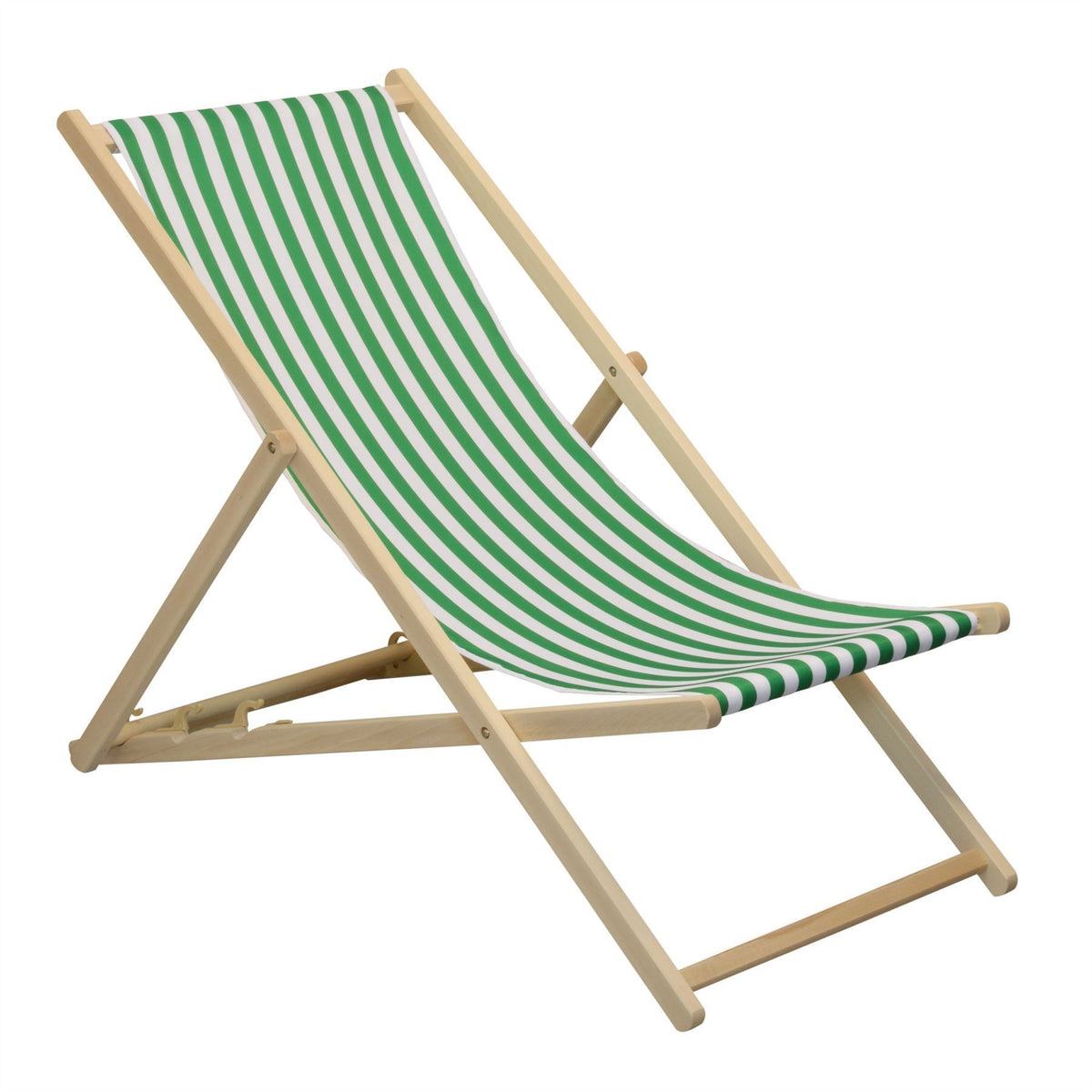 Traditional Garden Beach Style Adjustable Deck Chair Blue and White stripes Harbour Housewares Deck Chair