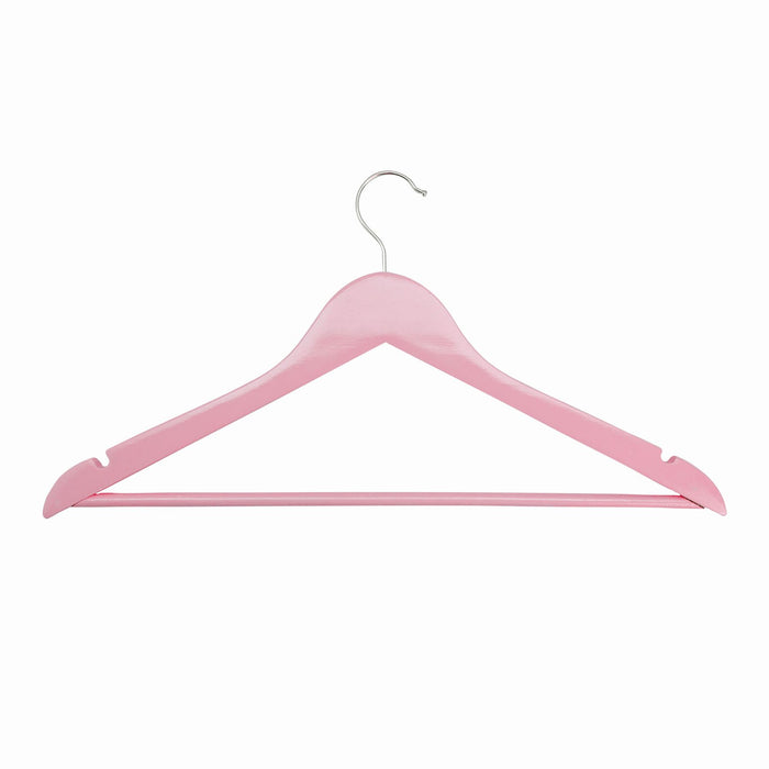 Harbour Housewares Wooden Clothes Hanger - Pastel Pink