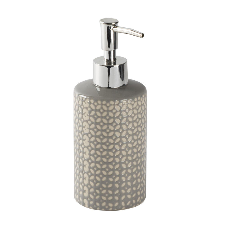 Harbour Housewares Liquid Soap Dispenser - Ceramic - Grey