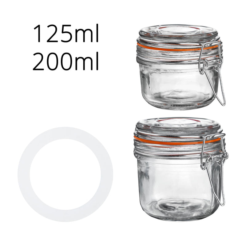 Argon Tableware Airtight Food Seals Glass Jars