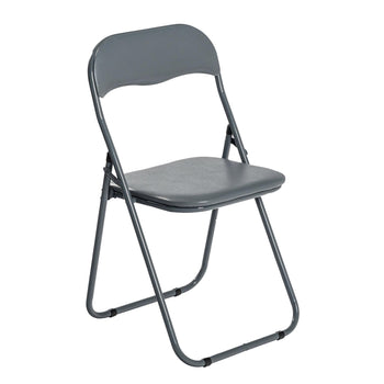 Harbour Housewares Padded Folding Desk Chair - Grey
