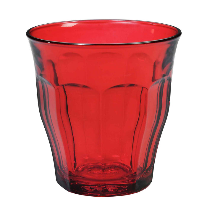 Duralex Picardie Glass Drinking Tumbler - Red - 250ml