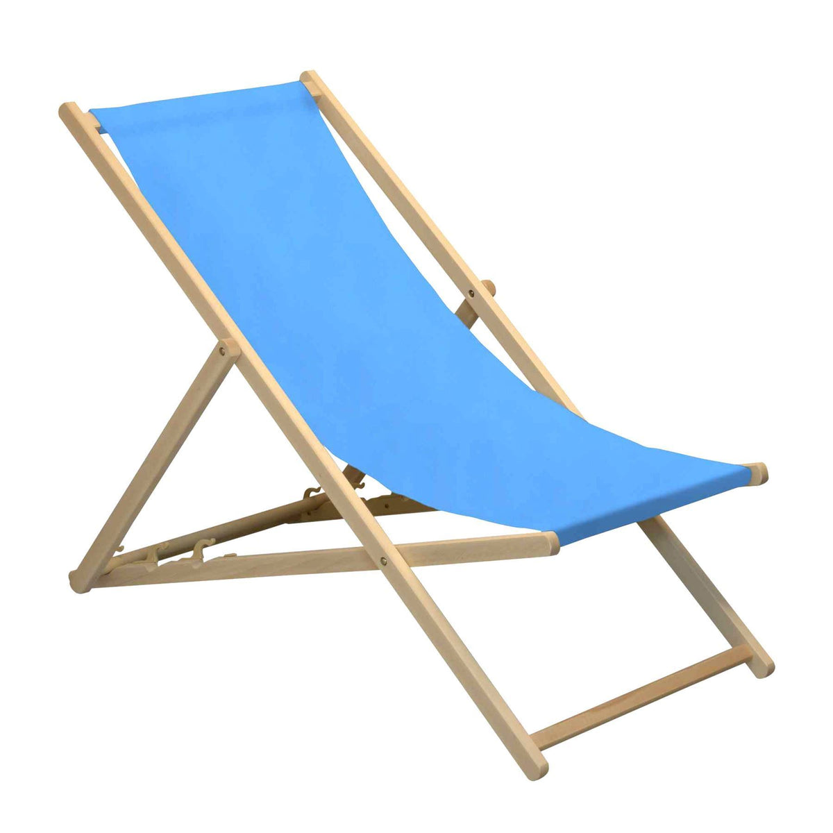 Harbour Housewares Beach Deck Chair - Light Blue