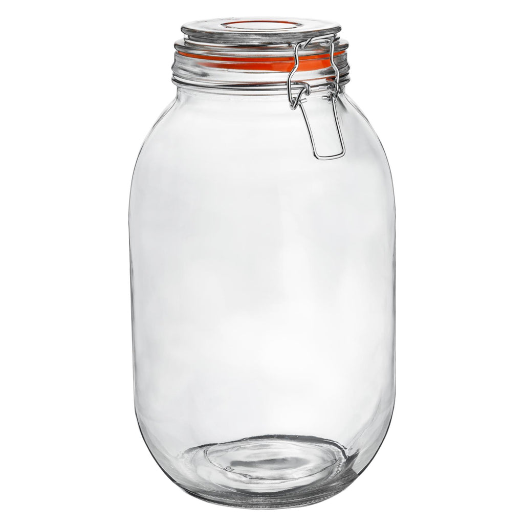 Argon Tableware Preserving / Biscuit Glass Storage Jar - 3000ml Argon Tableware Preserve Jars