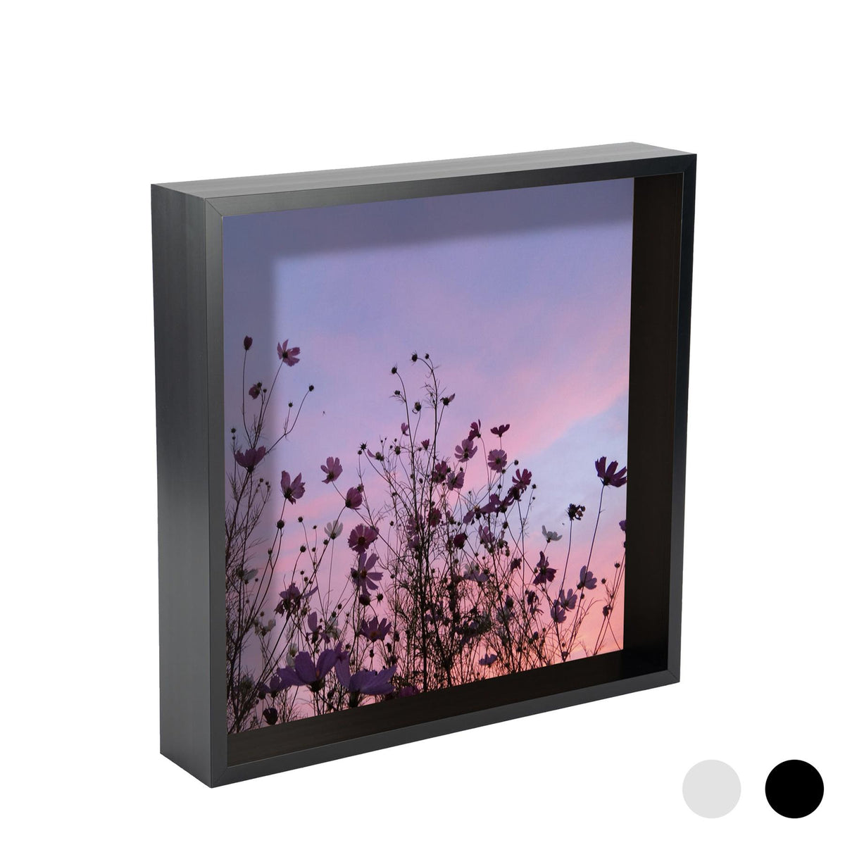 Nicola Spring Deep Box Photo Frame - 12 x 12 - Black