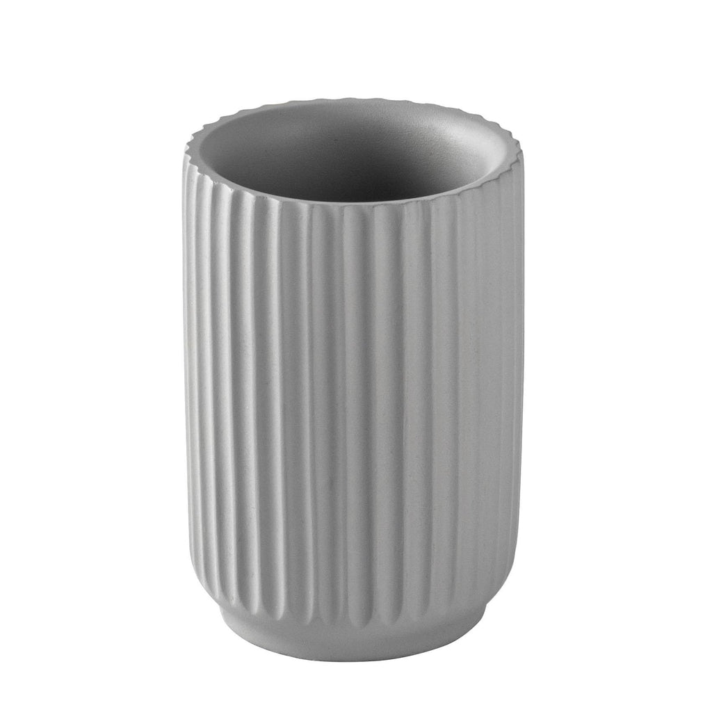 Harbour Housewares Toothbrush Holder - Concrete - Grey