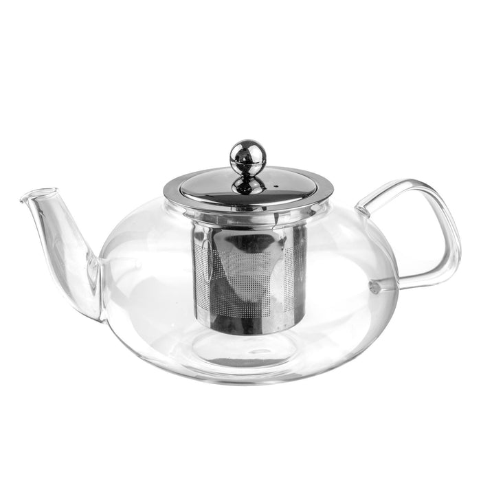 Argon Tableware Clear Glass Infuser Teapot - 800ml - Oval