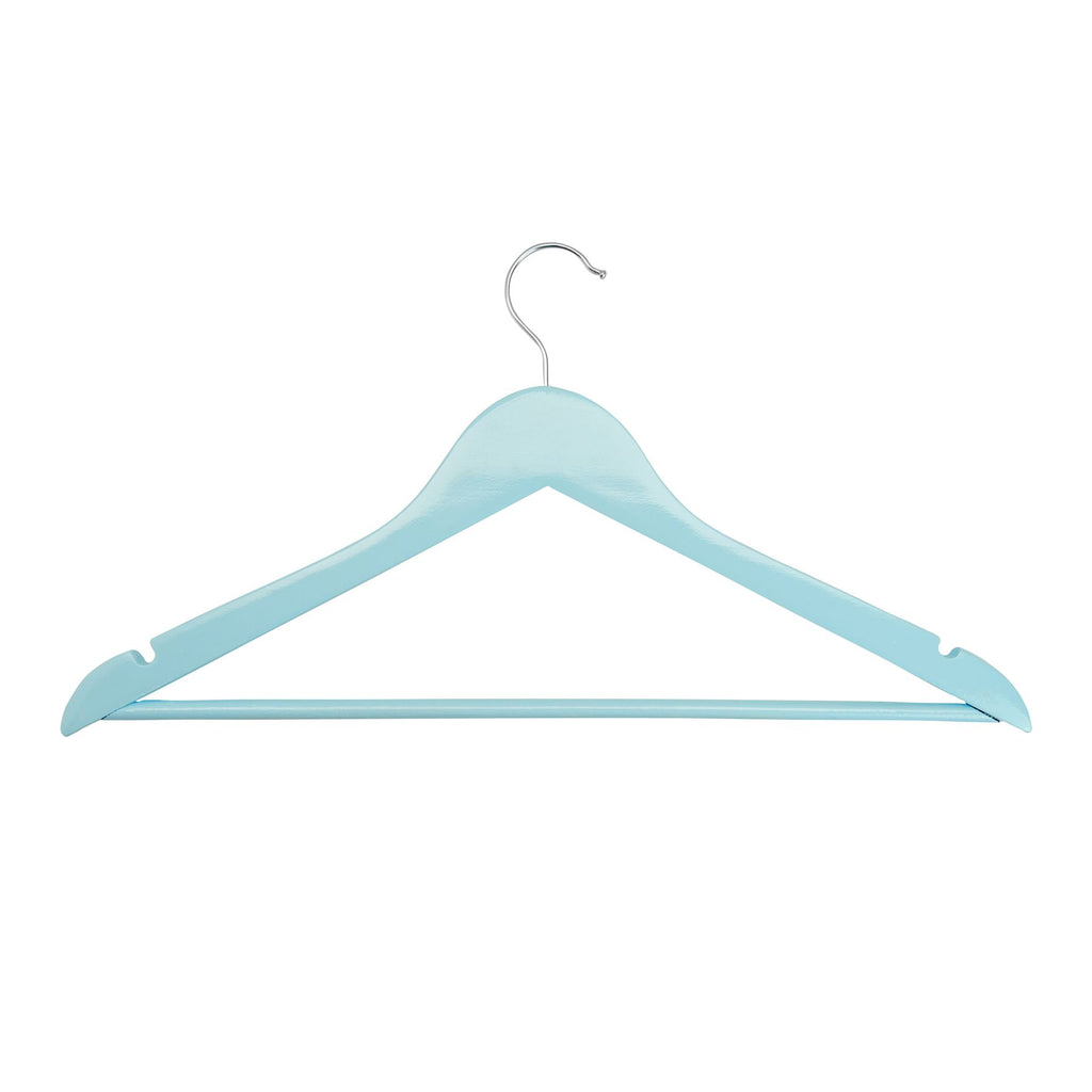 Harbour Housewares Wooden Clothes Hanger - Pastel Blue