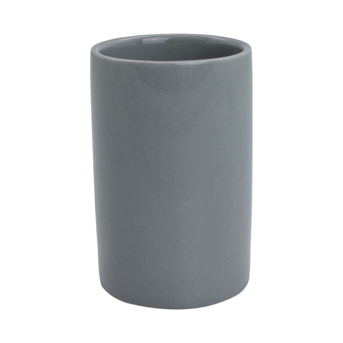 Harbour Housewares Ceramic Bathroom Toothbrush Tumbler - Grey