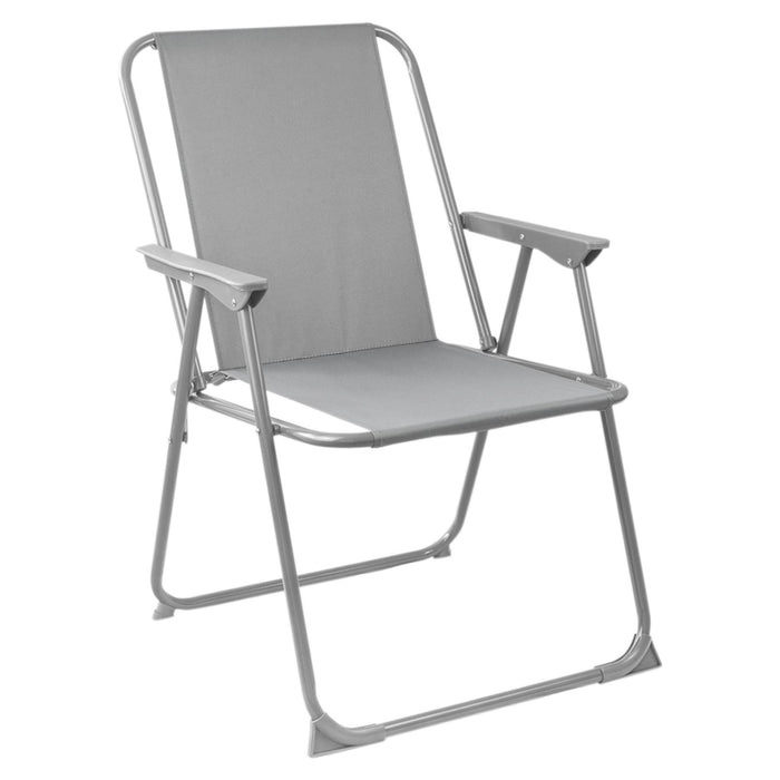 Harbour Housewares Folding Garden Armchair - Green Stripe