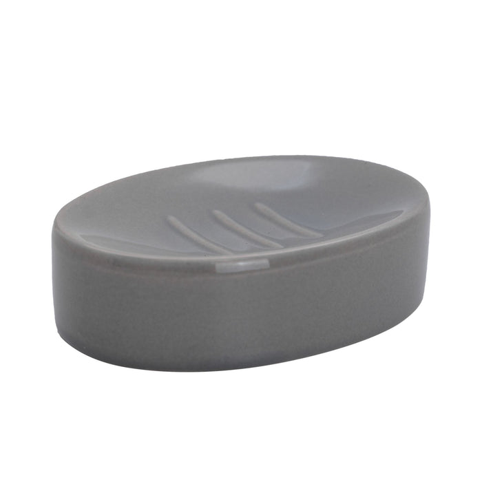 Harbour Housewares Ceramic Bathroom Soap Saver Dish - Grey