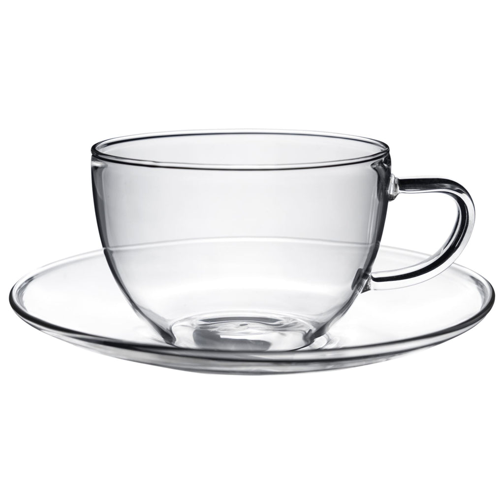 Argon Tableware Maximus Glass Cup and Saucer