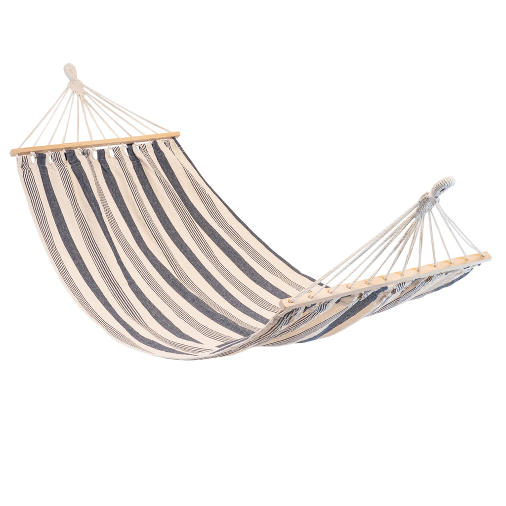 Harbour Housewares Brazilian Garden Hammock - Navy Stripe