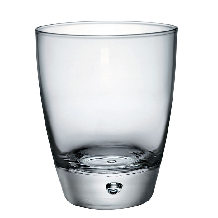 Bormioli Rocco 6 Luna Bubble Base Double Whiskey Glasses - 340ml