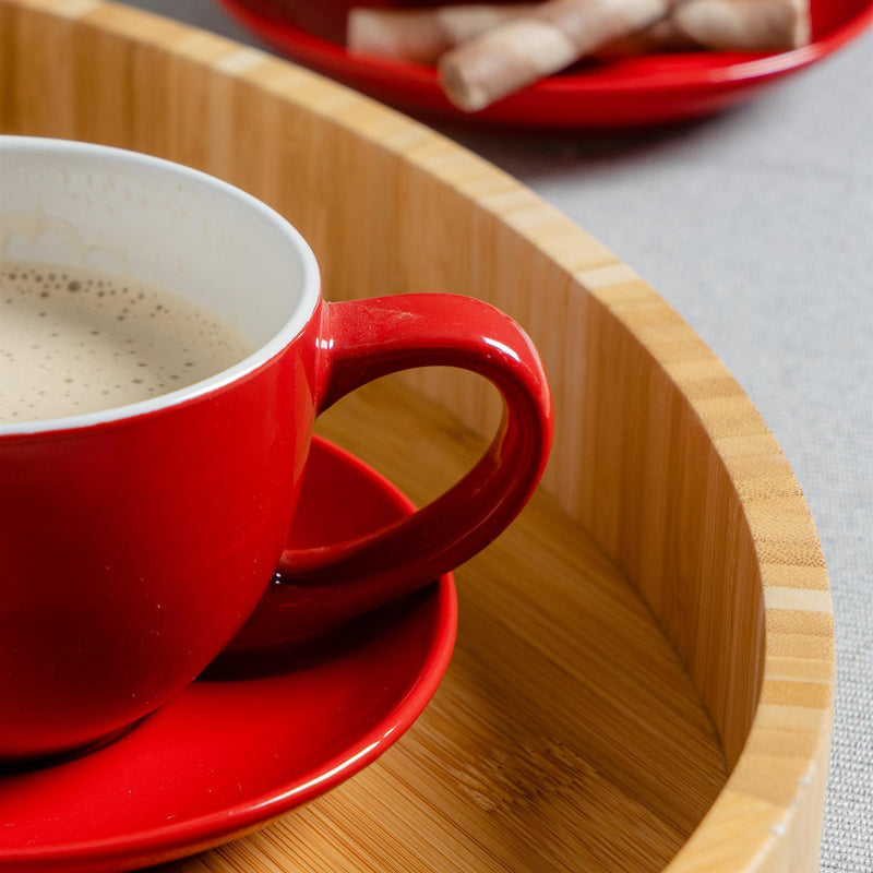 Argon Tableware Coloured Cappuccino Cup - Red - 250ml Detail