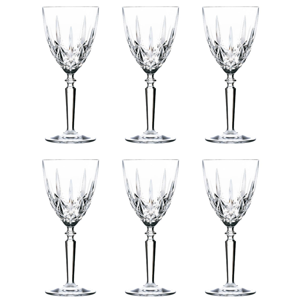 RCR Crystal Orchestra Cut Glass Wine Glass - 290ml