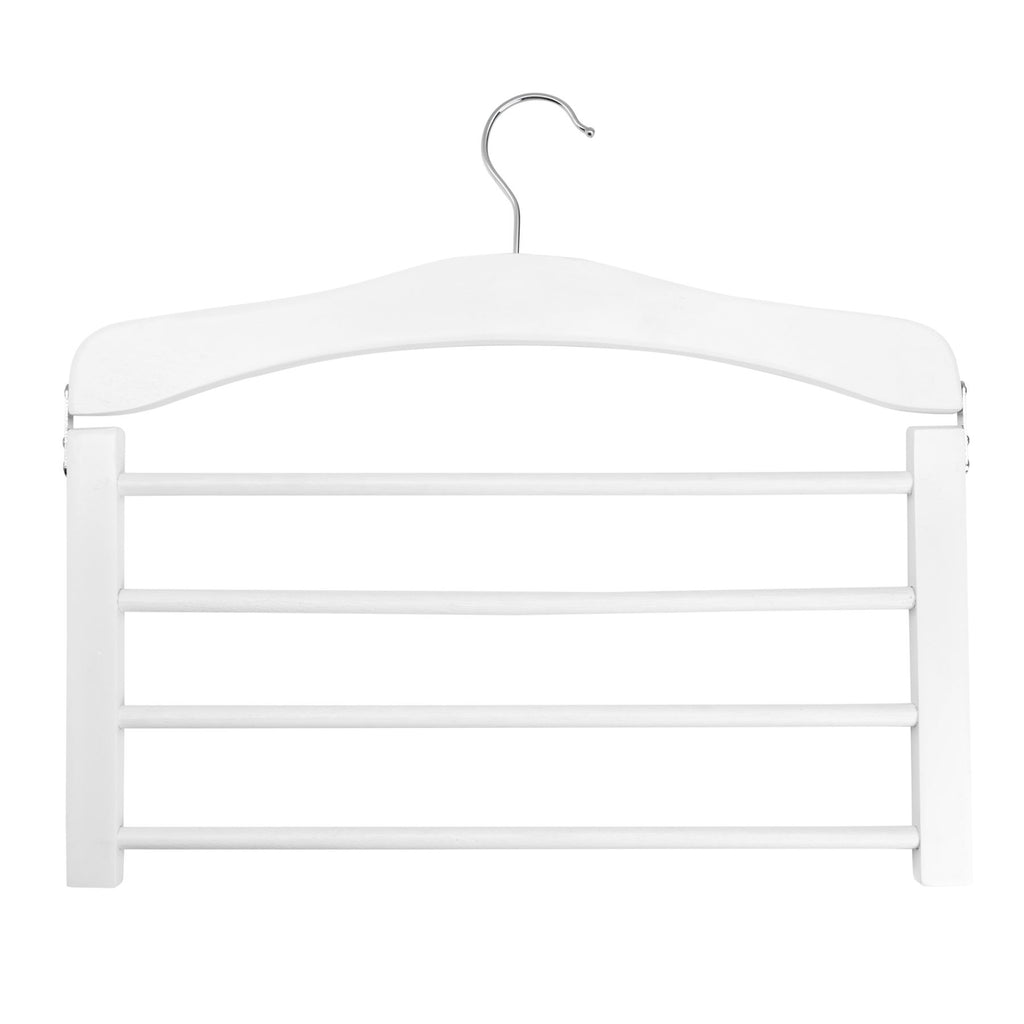 Harbour Housewares Wooden Multi Trouser Hanger - White