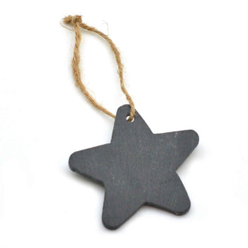 Nicola Spring Christmas Tree Hanging Slate Decoration - Star Design