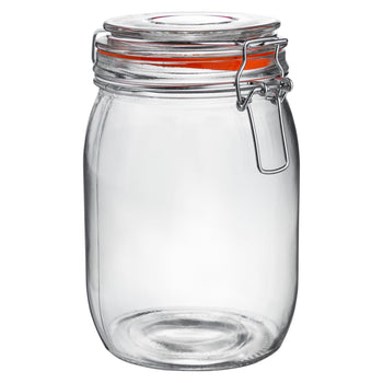 Argon Tableware Preserving / Biscuit Glass Storage Jar - 1000ml Argon Tableware Preserve Jars