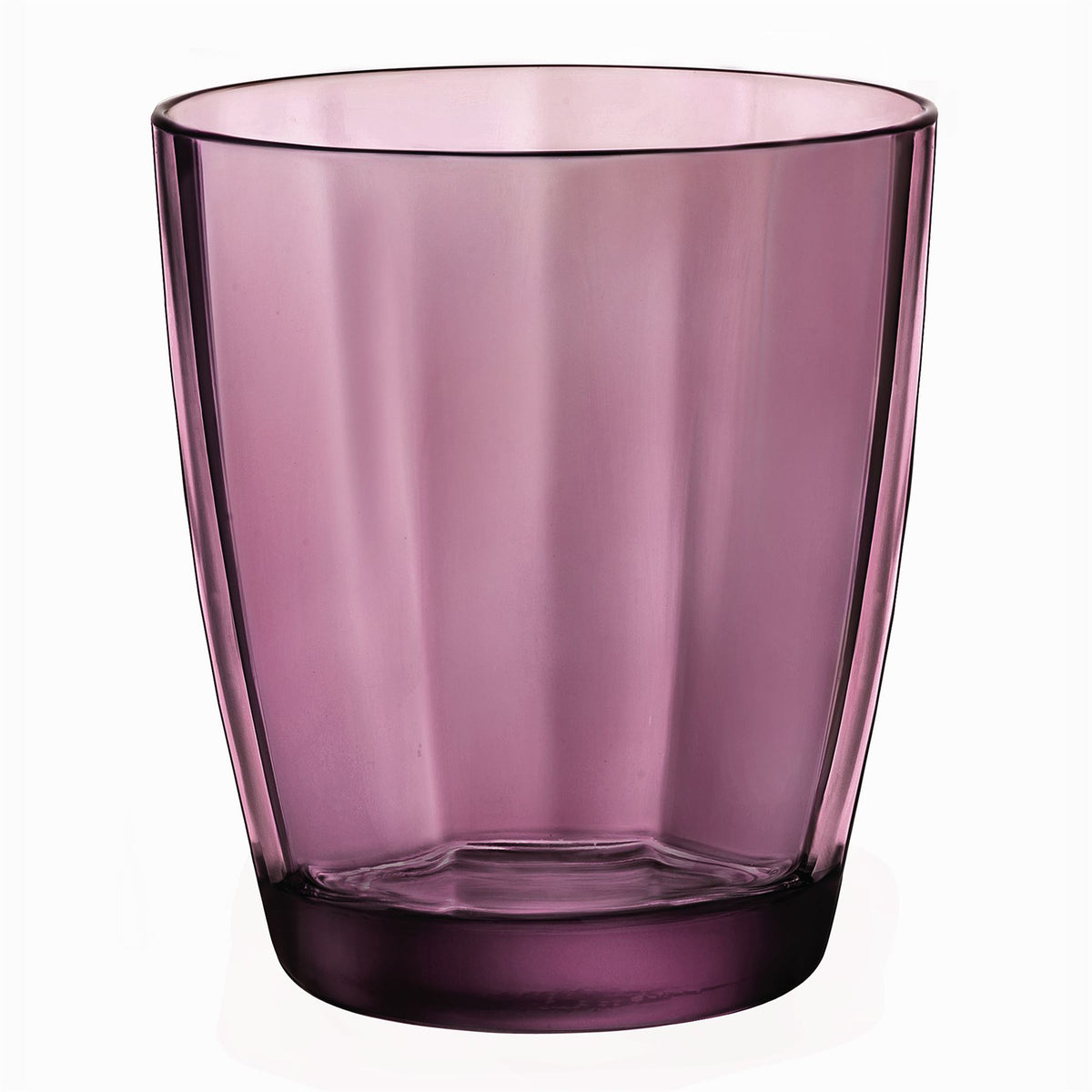 Bormioli Rocco 6 Pulsar Glass Whiskey Glasses - Purple - 300ml