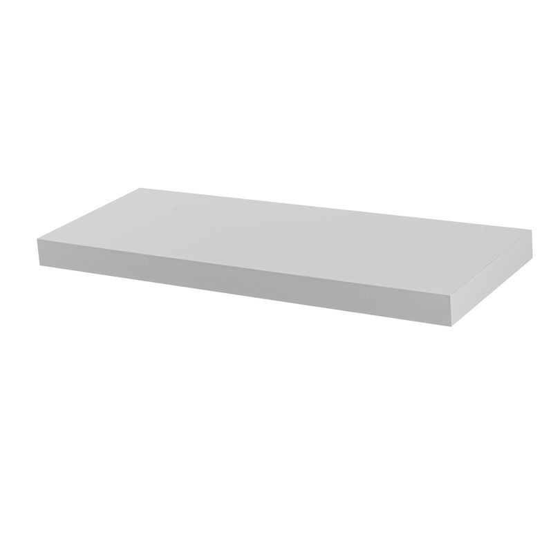 Harbour Housewares Medium Rectangular Wooden Floating Wall Shelf - 60cm - White