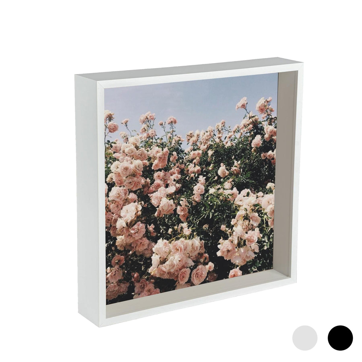 Nicola Spring Deep Box Photo Frame - 12 x 12 - White