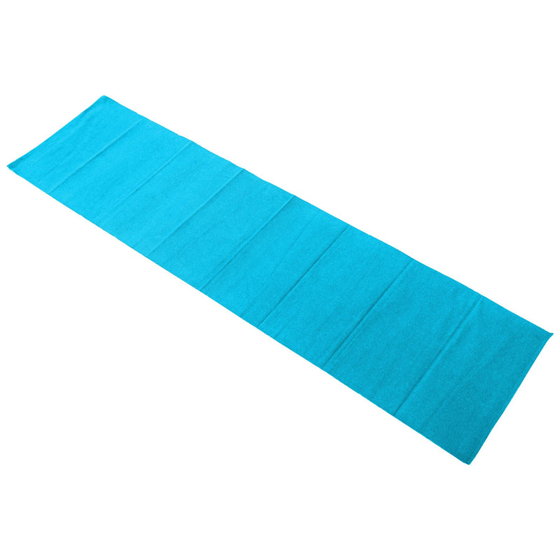 Nicola Spring Ribbed Cotton Dining Table Runner - 183cm - Blue
