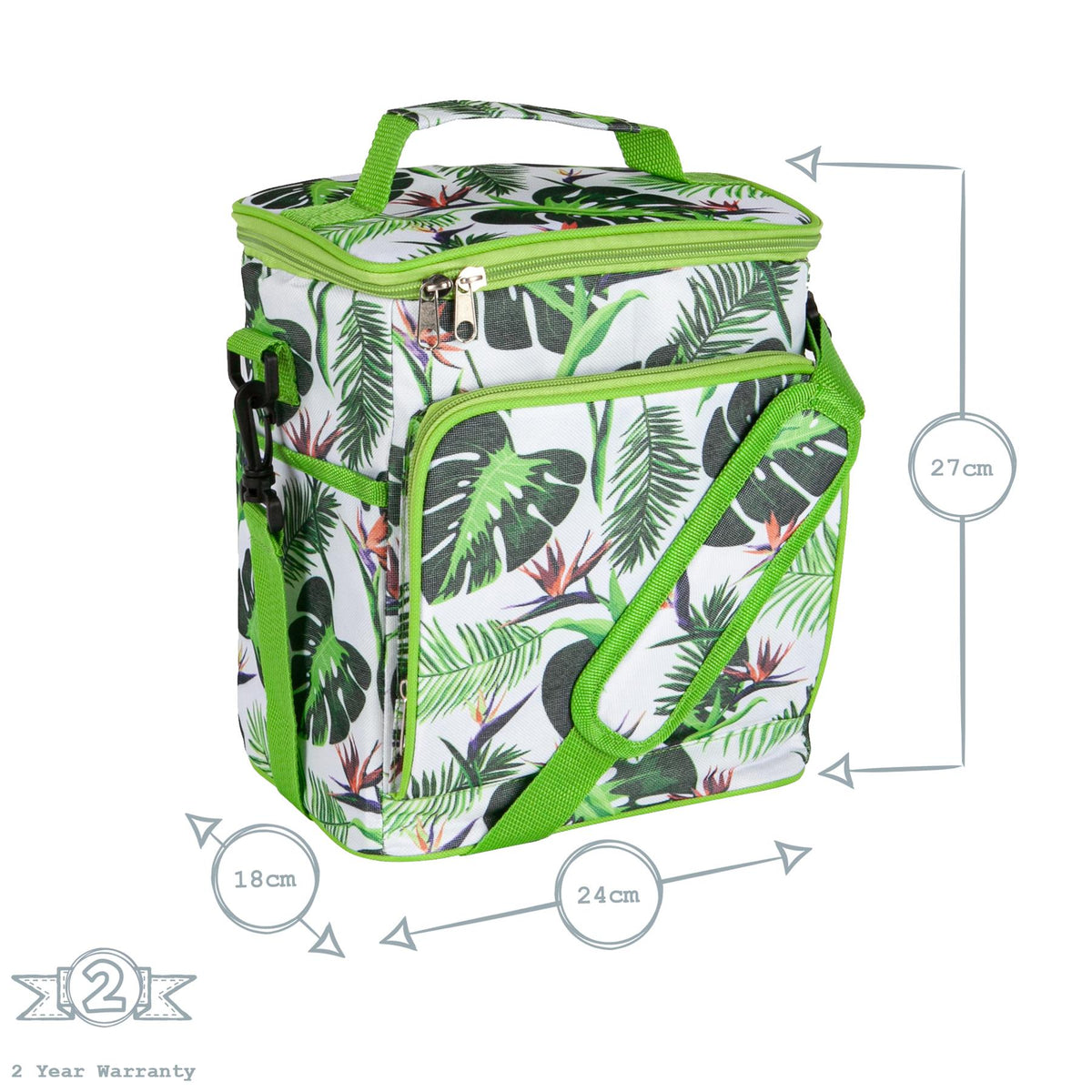 Nicola Spring Insulated Cooler Bag - Tropical