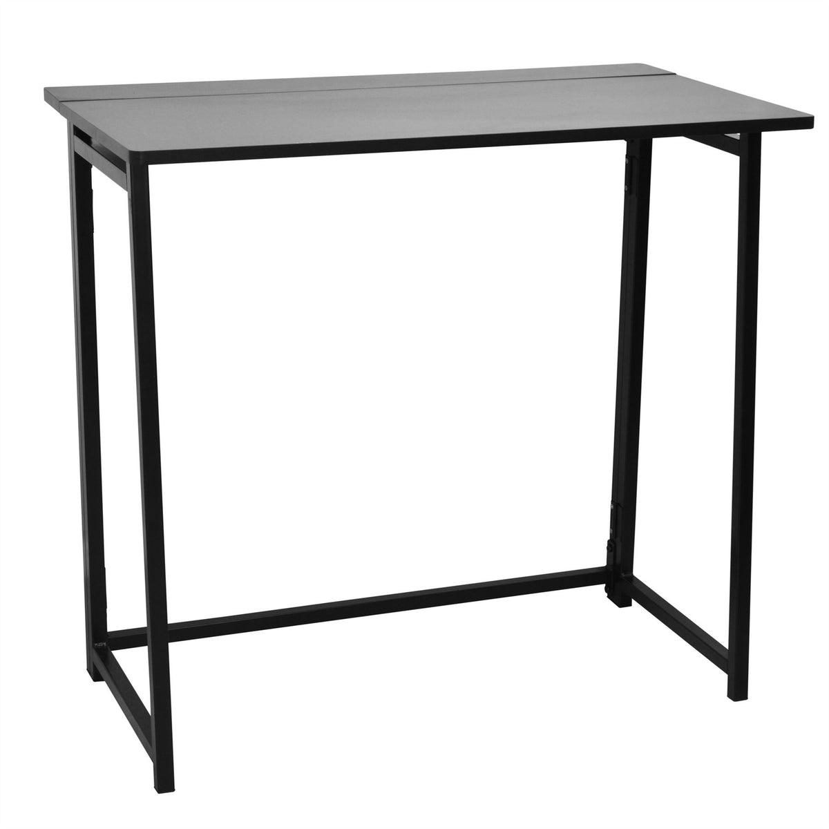 Harbour Housewares Folding Space Saver Desk - Black