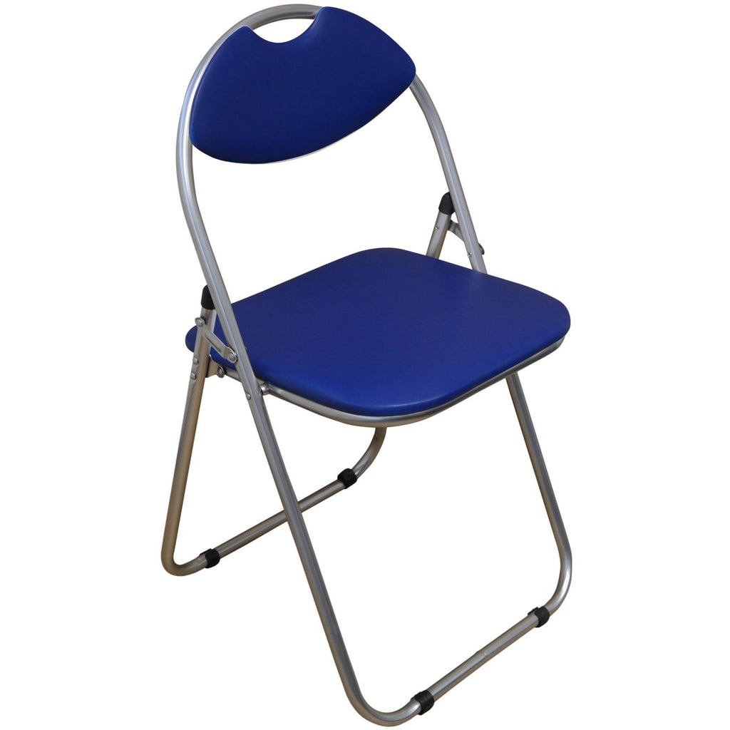 Harbour Housewares Blue Padded, Folding, Desk Chair
